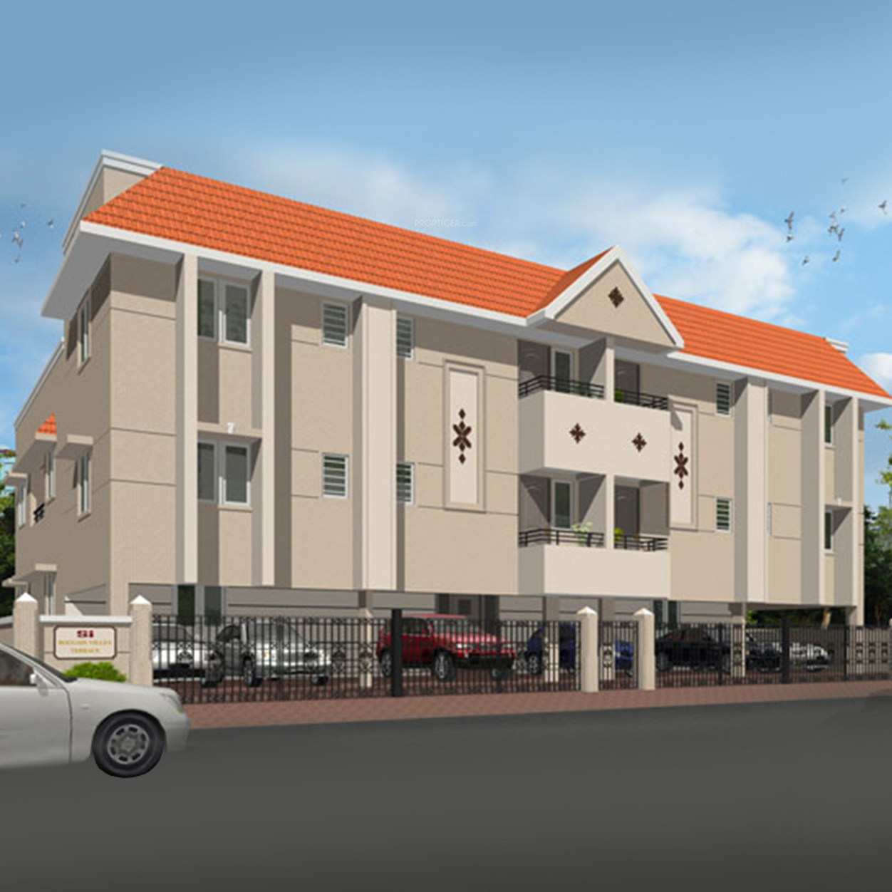 Southern bougainvillea terrace in padi chennai price for Terrace elevation