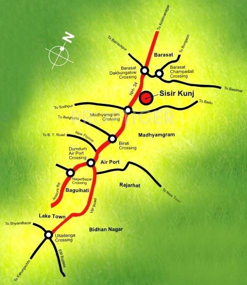 Bengal Shelter Sisirkunja Location Plan