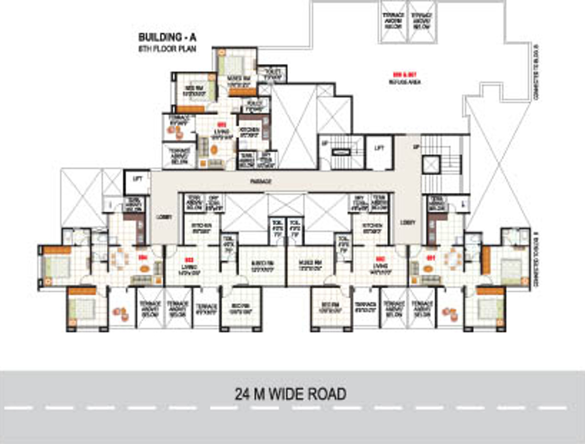 950 sq ft 2 bhk 2t apartment for sale in chandrarang for 950 sq ft