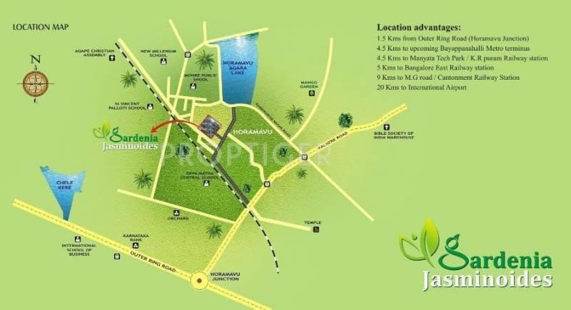 Images for Location Plan of Kriti Gardenia Jasminoides