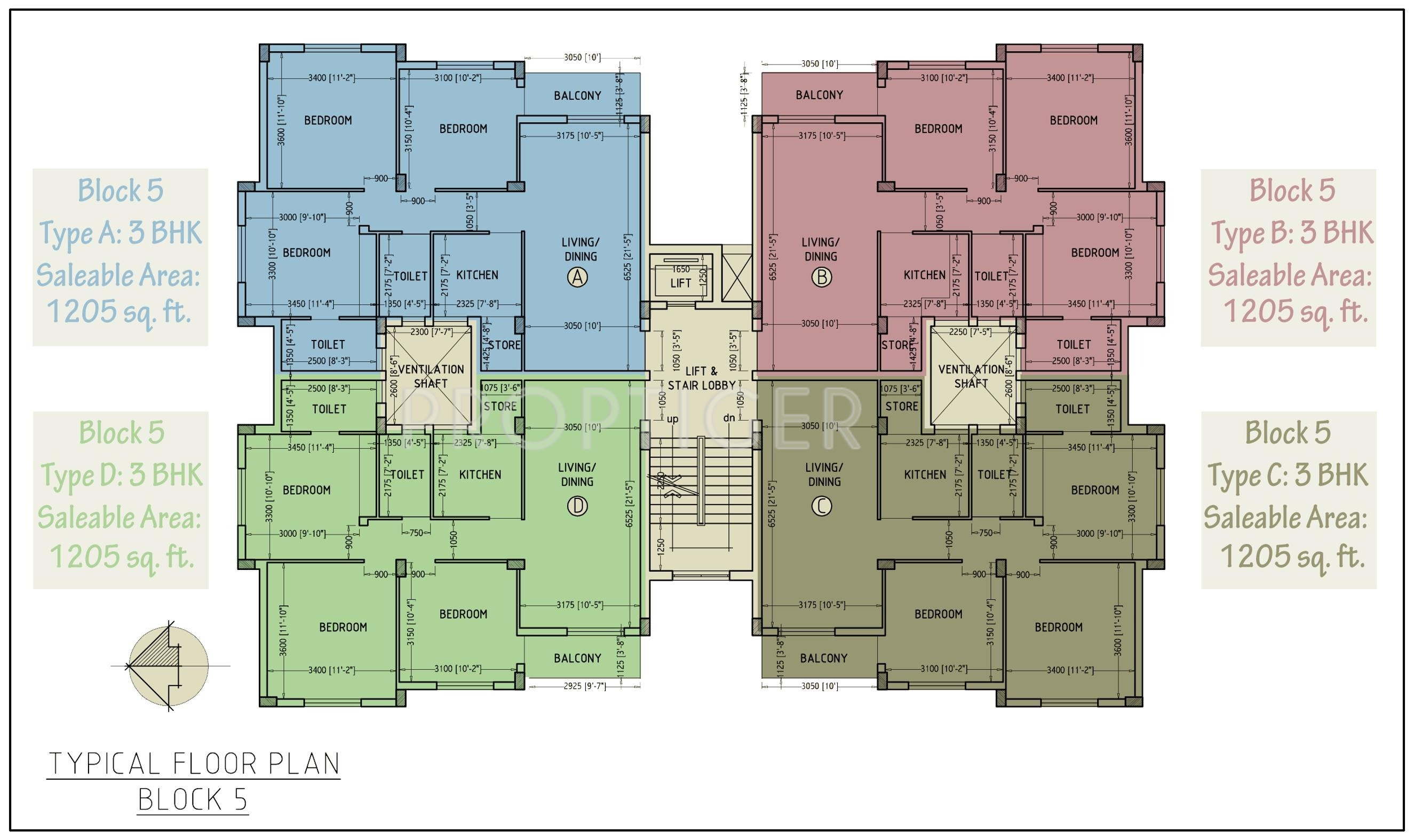 1200 sq ft 3 bhk 2t apartment for sale in master for Apartment plans 1200 sq ft