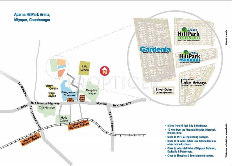 Images for Location Plan of Aparna Constructions Hillpark Avenue