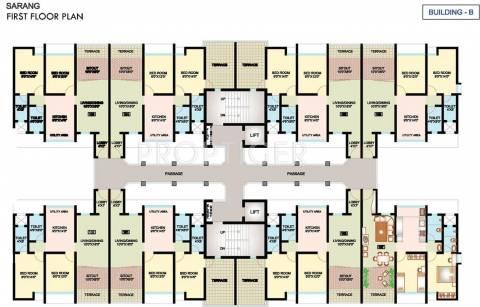 2 Bhk Cluster Plan Image Nanded City Development Sarang For Sale At Dhayari Pune Proptiger Com