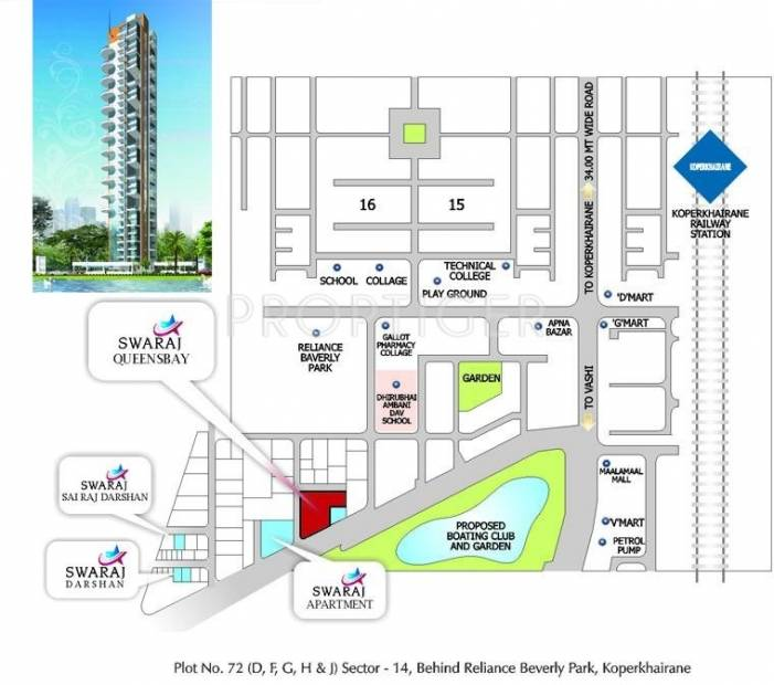 Images for Location Plan of Swaraj Queensbay