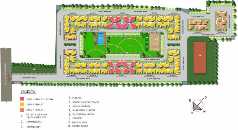 Images for Master Plan of Growel Green Homz SPLS Aawasiya Yojna