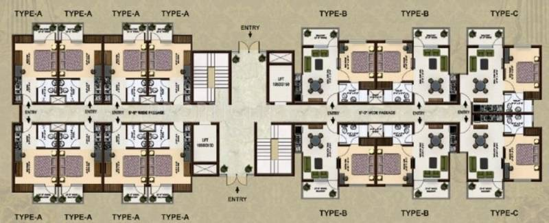 Images for Cluster Plan of Home and Soul Beetle Suites 2