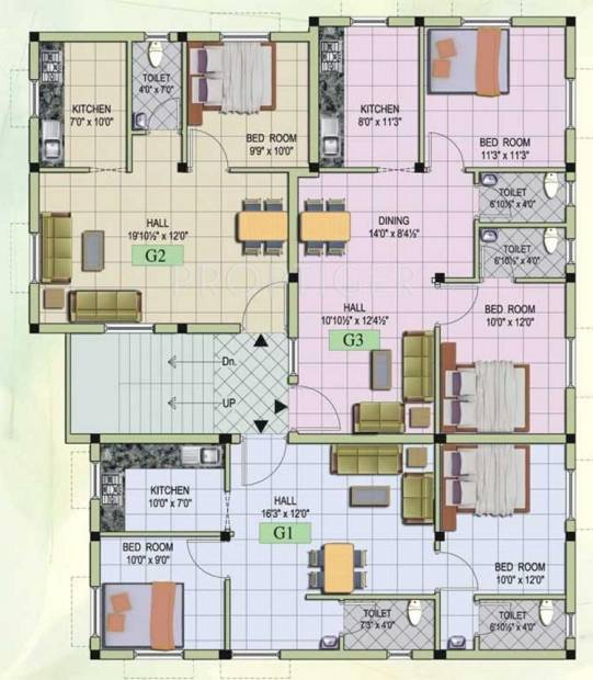 Images for Cluster Plan of MS Builders Mithra Flats