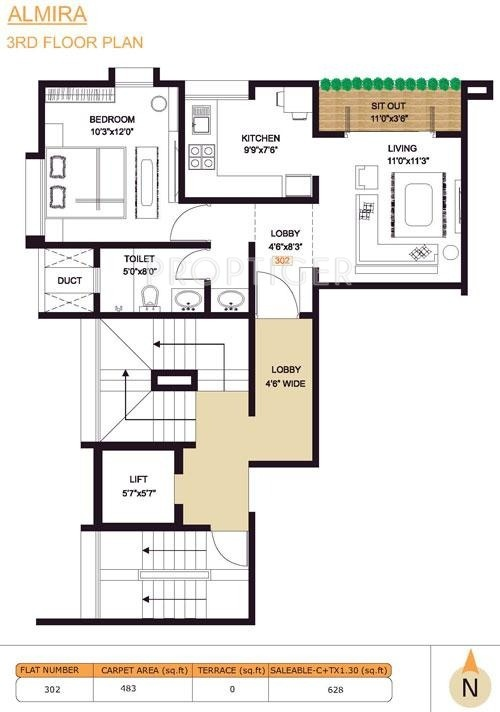 3000 sq ft 4 bhk 4t apartment for sale in pandit javdekar for 3000 sq ft apartment floor plan