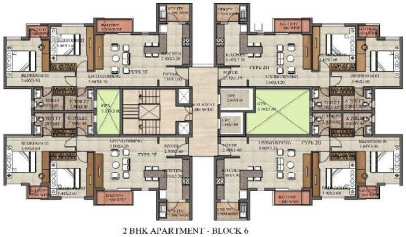 Images for Cluster Plan of Excel Codename Five Rings Apartment
