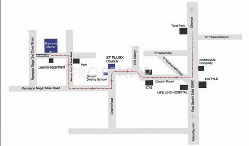 Images for Location Plan of Agni Parveen Manor