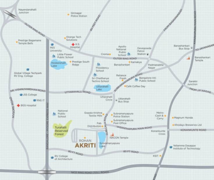 akriti Images for Location Plan of Rohan Akriti