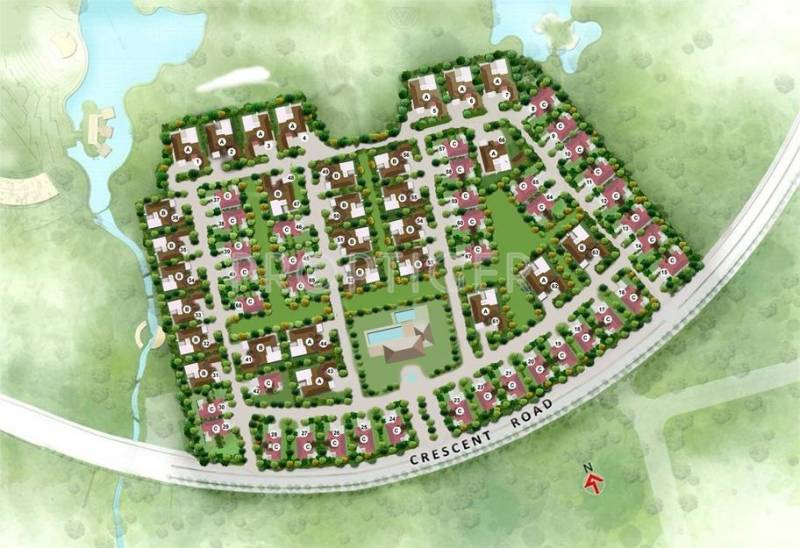 Images for Layout Plan of Amanora Sweet Water Villa Plots