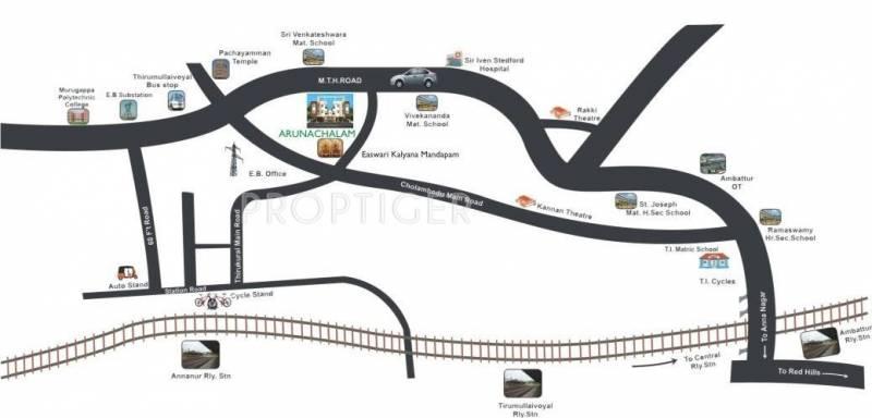 UA Foundation Arunachalam Location Plan