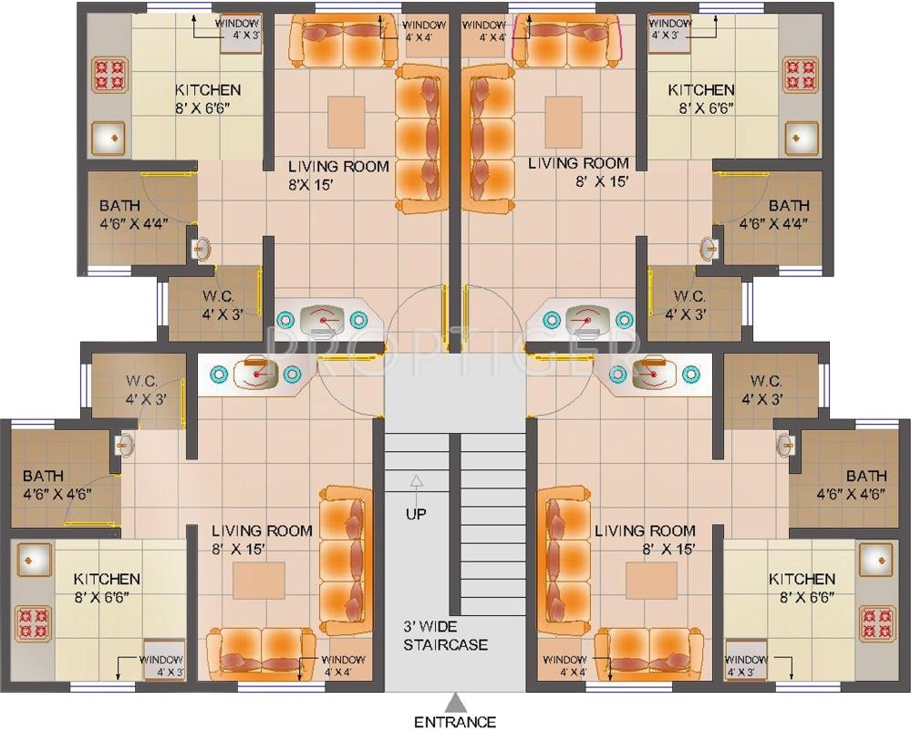 300 Sq Ft Apartment Floor Plan: 625 Sq Ft 1 BHK 1T Apartment For Sale In Poddar Housing