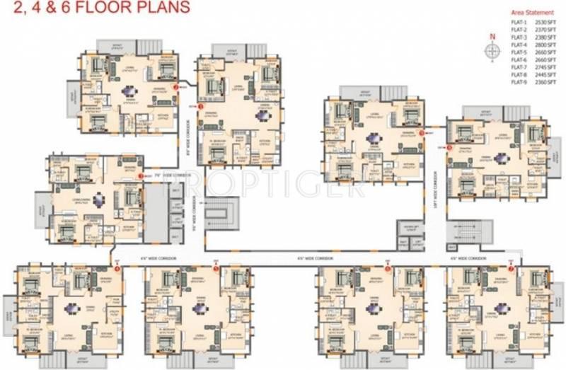 Images for Cluster Plan of Gowra Hallmark KSN Residency