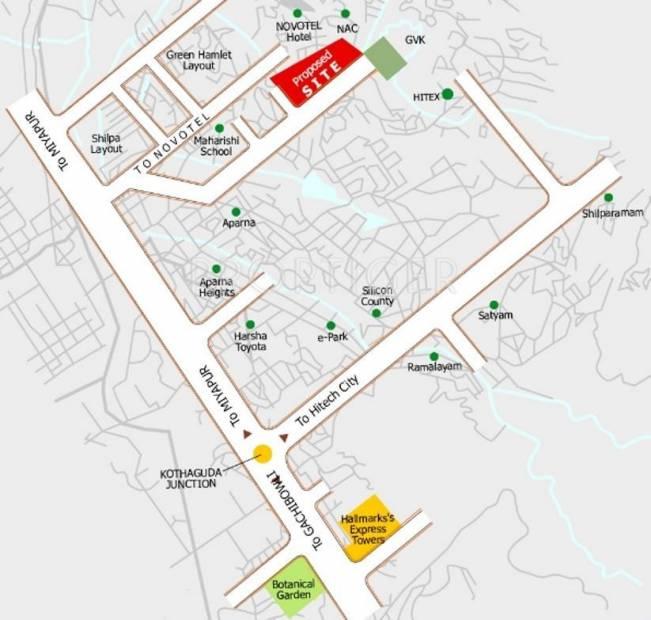 Images for Location Plan of Gowra Hallmark KSN Residency