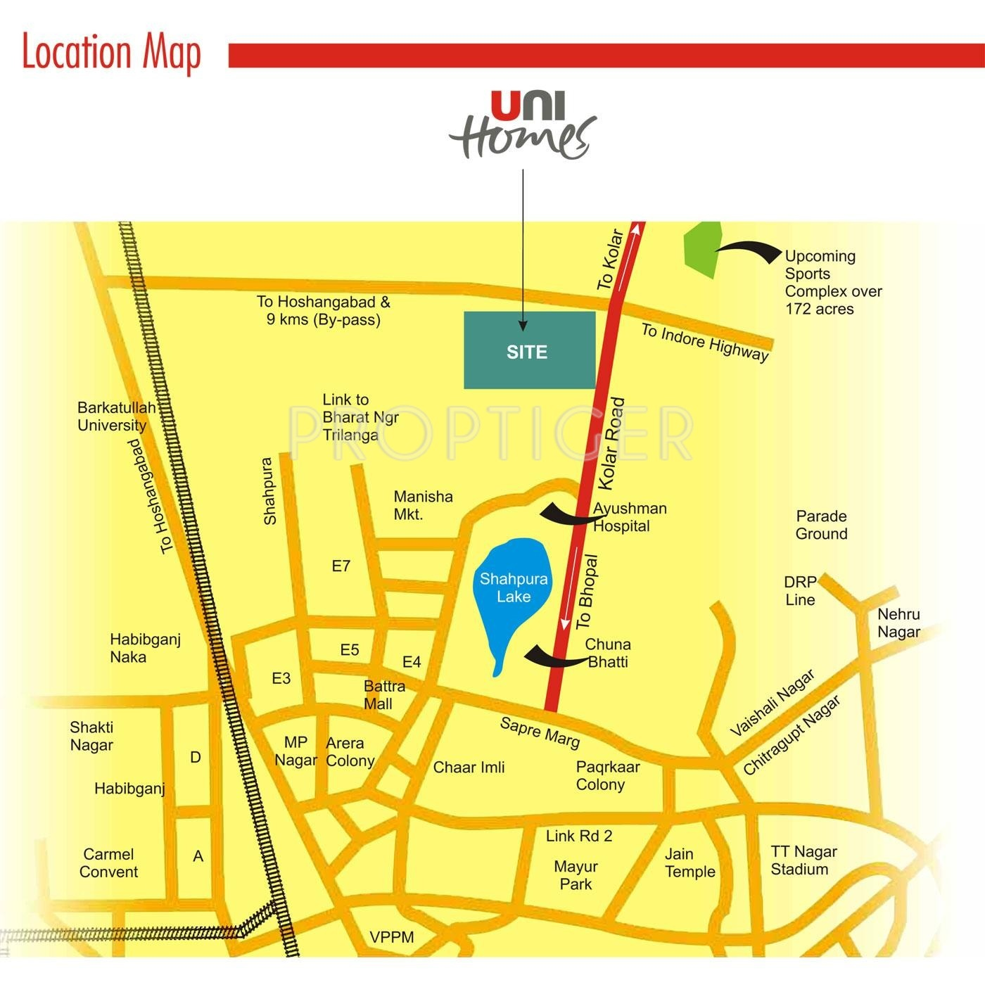 Unitech Uni Homes In Kolar Road Bhopal Price Location