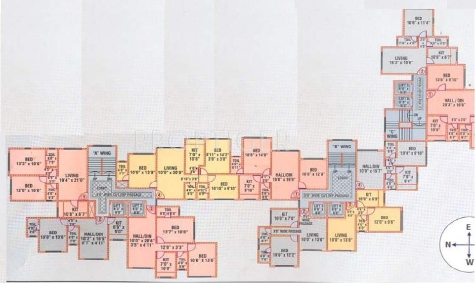 640 sq ft 1 bhk 1t apartment for sale in deepak developers for 640 square feet floor plan