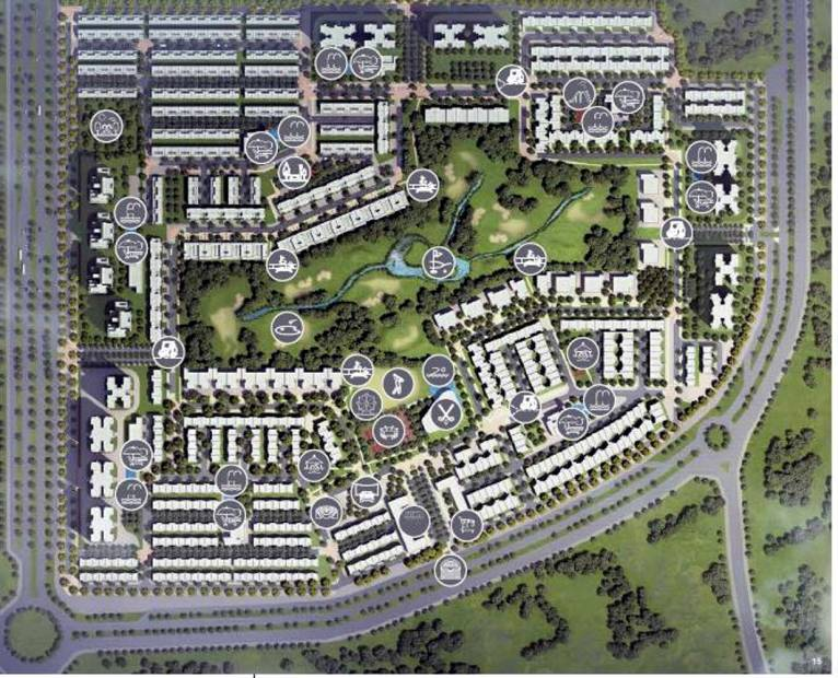 Images for Layout Plan of Godrej Golf Links Villas