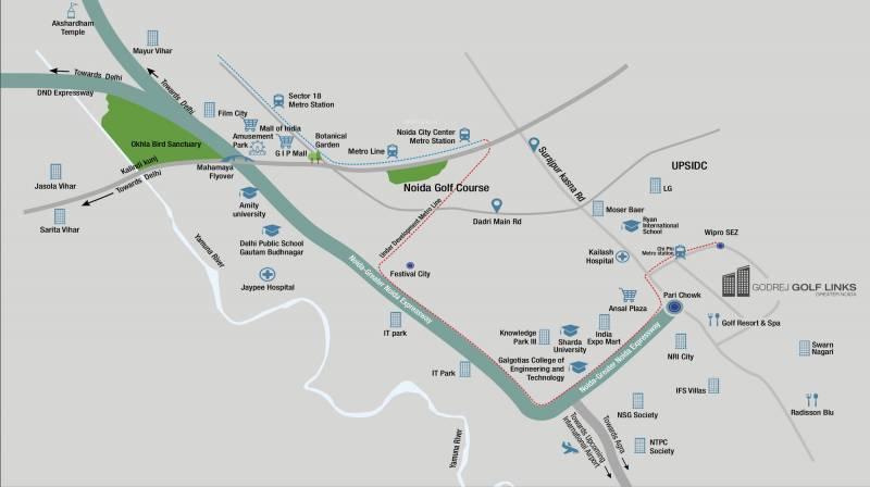 Images for Location Plan of Godrej Golf Links Villas