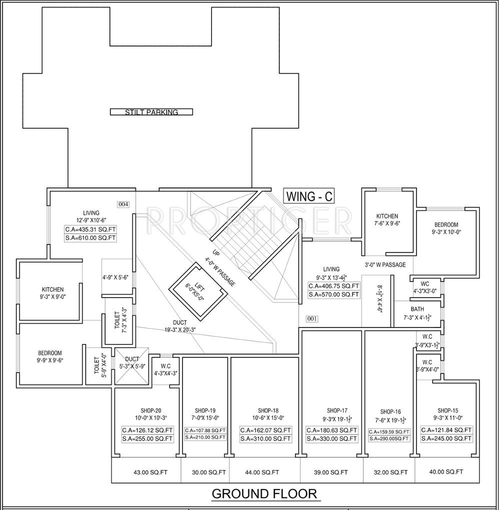 675 sq ft 1 bhk 1t apartment for sale in bidker builders for 675 sq ft floor plan