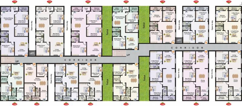 Images for Cluster Plan of Amma Galaxy City Vasantha