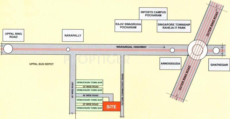 venkatadri-heights Images for Location Plan of Ventura Venkatadri Heights