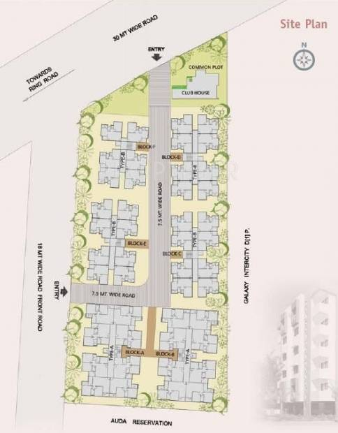Images for Site Plan of Galaxy Galaxy Intercity