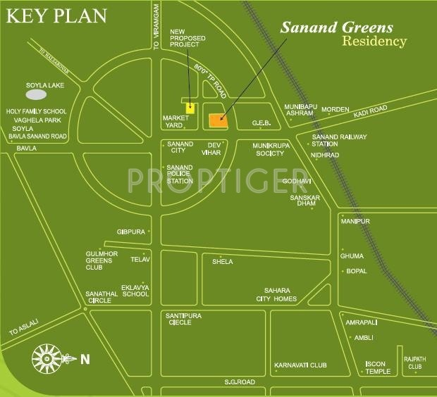sanand-green-residency Images for Location Plan of Swastik Sanand Green Residency