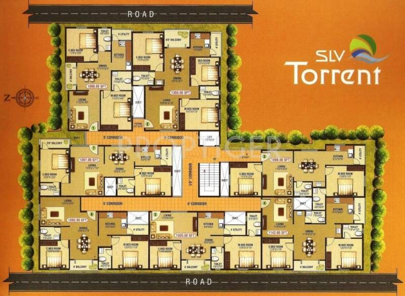 2 3 Bhk Cluster Plan Image Slv Torrent For Sale At