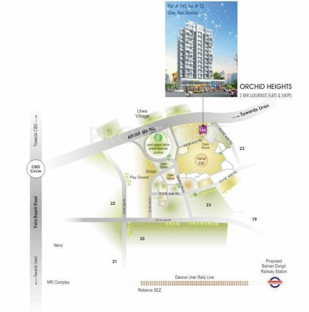 Sunny Buildtech Orchid Heights Location Plan