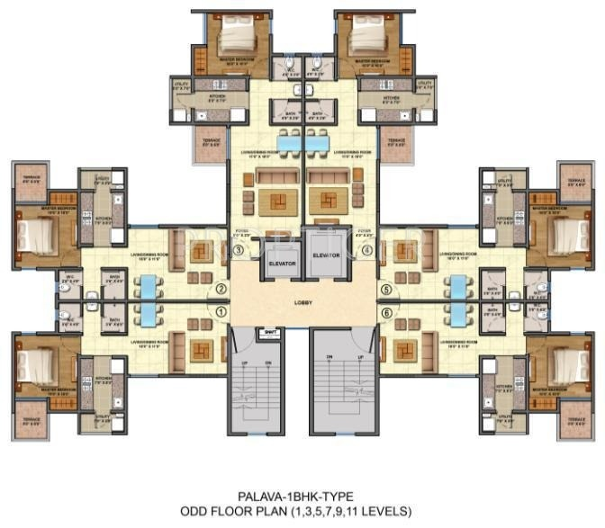 Images for Cluster Plan of Lodha Palava Lakeshore Greens