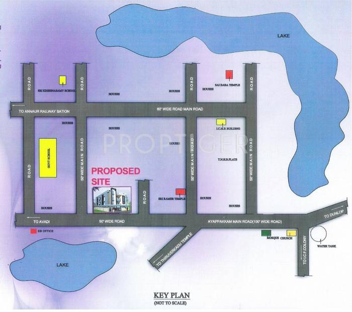 Images for Location Plan of Chennai Royal Nests