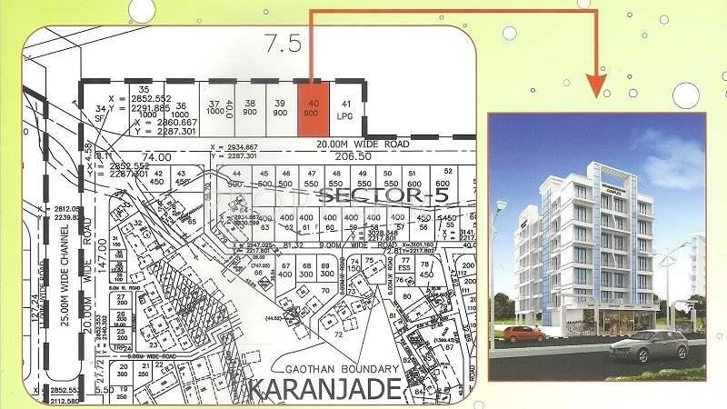 Sai Enterprises Swaminarayan Complex Location Plan