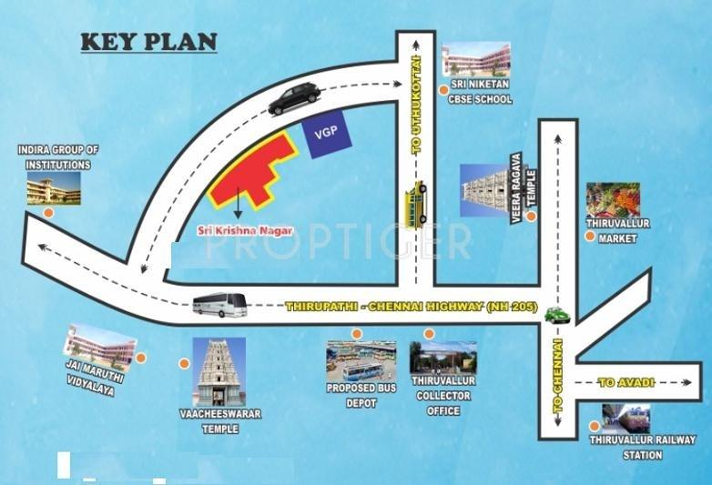 Images for Location Plan of Anbu Realtors Sri Krishna Nagar