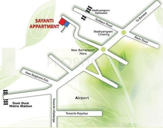 Images for Location Plan of Sayanti Builders Sayanti Apartment