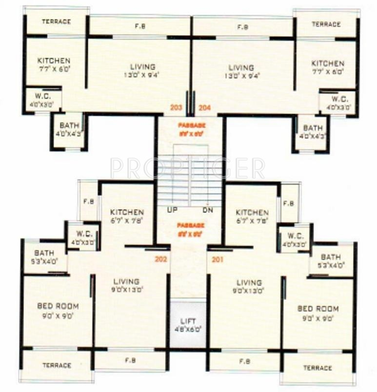 640 sq ft 1 bhk 1t apartment for sale in anchit padmavati for 640 sq ft