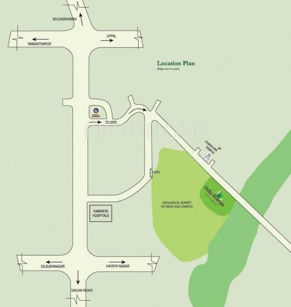 Images for Location Plan of Indus Indu Aranya Villas