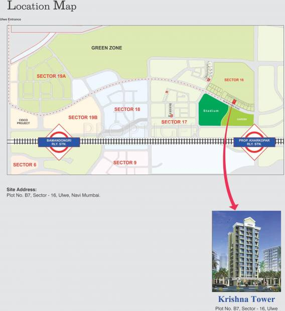 Images for Location Plan of Galaxy Krishna Tower