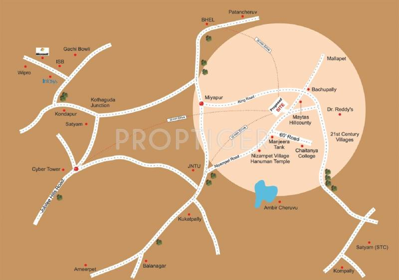Images for Location Plan of Dhanvi Dhanvi Hill View
