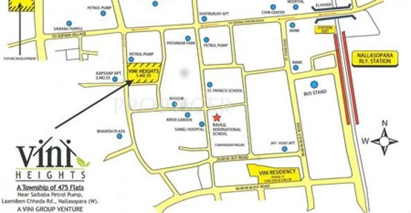 Vini Group Heights Phase 1 Location Plan