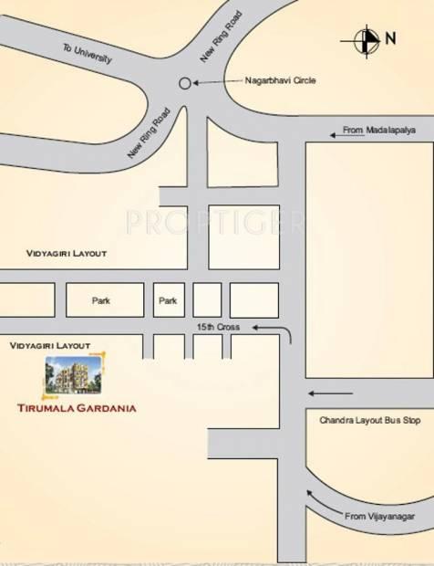 Images for Location Plan of Tirumala Tirumala Gardenia