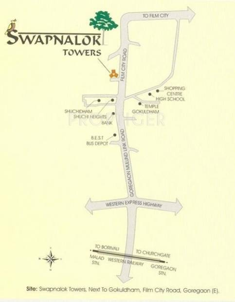 swapnalok-towers Images for Location Plan of Ashish Estates Swapnalok Towers