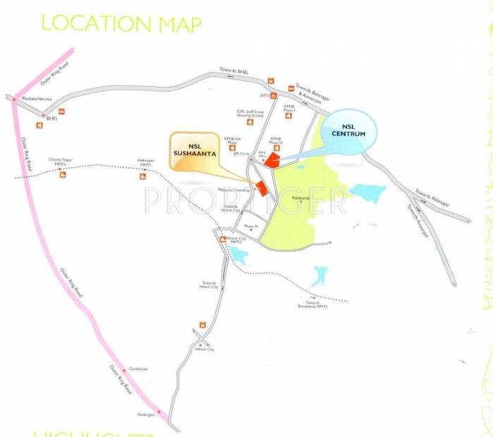 sushaanta Images for Location Plan of NSL Infratech Sushaanta