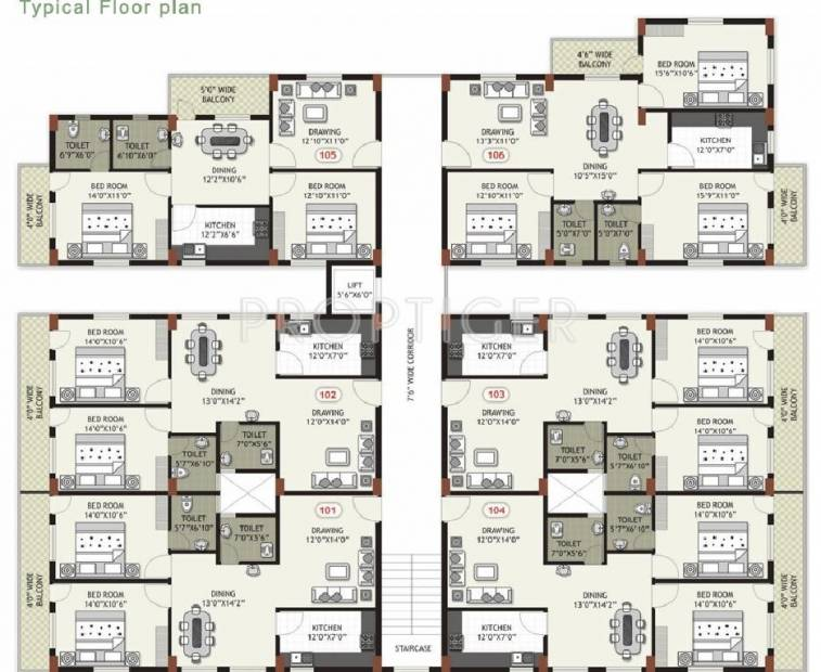 Images for Cluster Plan of Arya Arya Residency