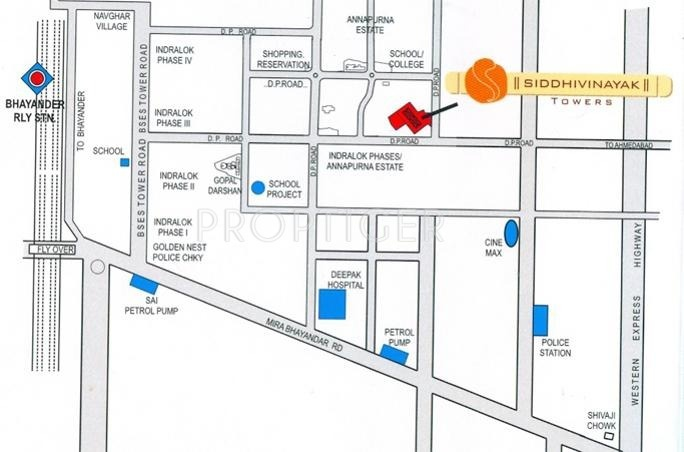 siddhivinayak-towers Images for Location Plan of Ashish Estates Siddhivinayak Towers