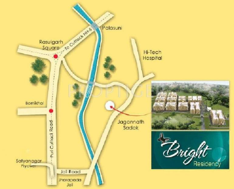 bright-residency Images for Location Plan of Arya Bright Residency