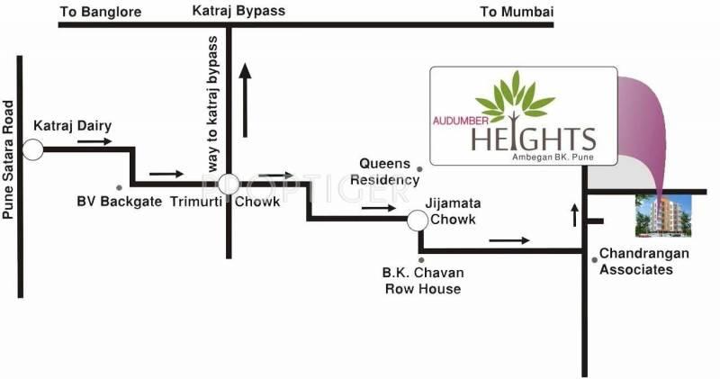 SP Construction Pune Audumer Heights Location Plan