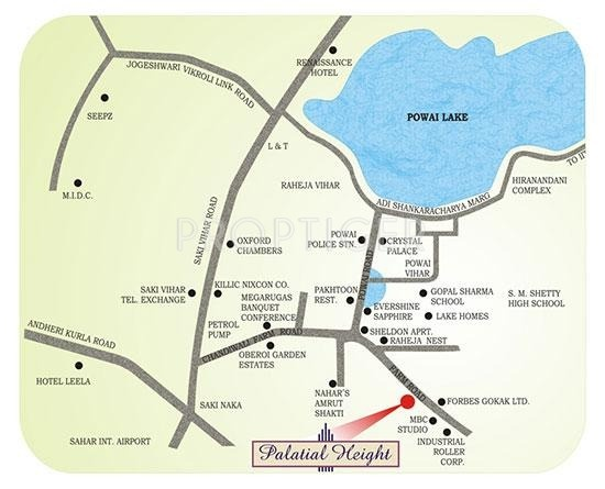 Dedhia Group Builders and Developers Palatial Height Location Plan