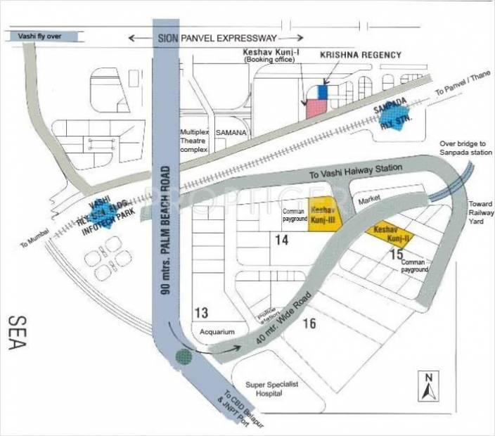 V R Mittal Builder Keshav Kunj 3 Location Plan